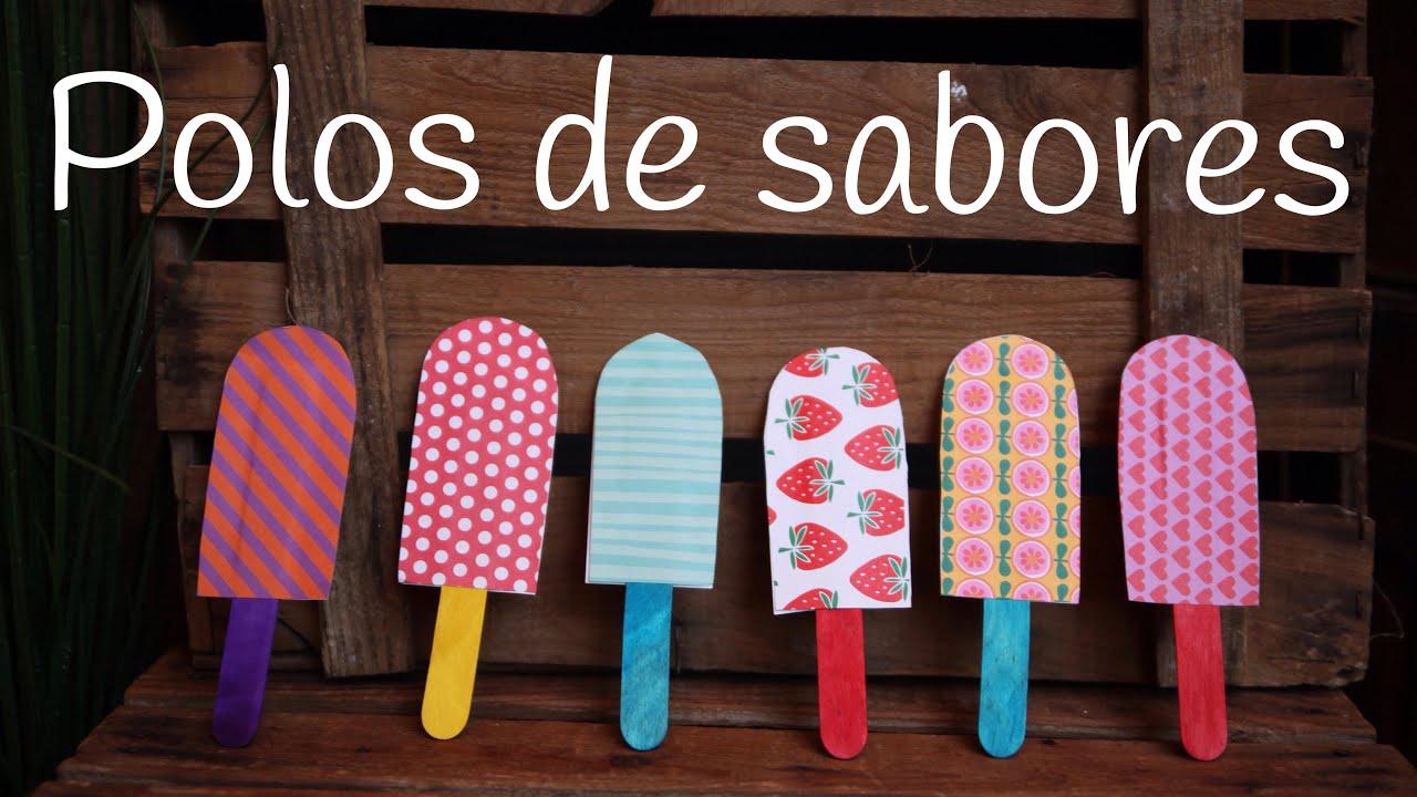 Polos de helado con PALOS | Ideas para decorar un CUMPLEAÑOS de verano
