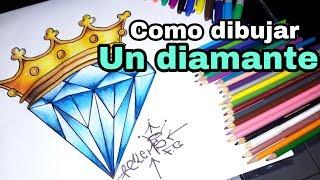 Como Dibujar Un Diamante - Como Dibujar Un Diamante Paso A Paso / How To Draw A Diamond