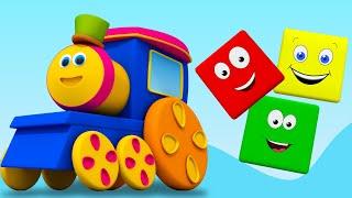 bob tàu màu đi xe | Học màu | Tên của màu sắc trong tiếng việt | Bob The Train | Color Ride