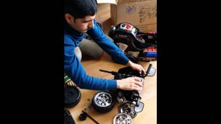 Kindermotorrad Aufbau in 12 Minuten