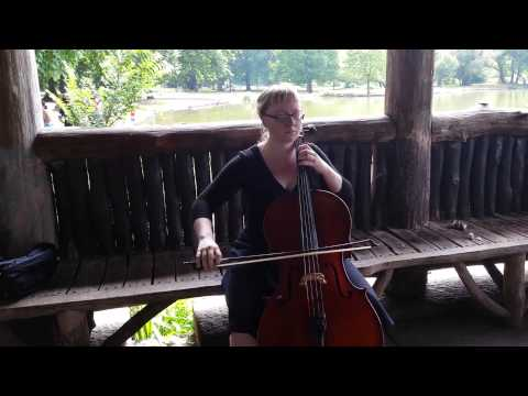 Bach 1st Cello Suite Prelude in the Park on a nice afternoon