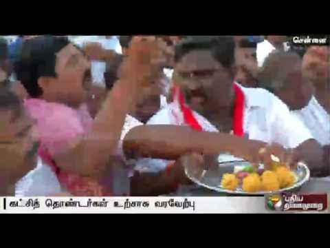 IJK-members-greet-Parivendhar-as-he-gets-bail