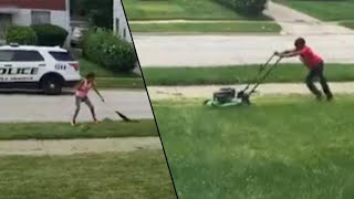 Ohio Community Helps Boys Lawn Cutting Business After Cops Were Called On Him