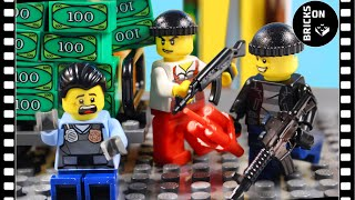 Lego Dashing Bank Robbery Heist City Police Academy School Brickfilm Stop Motion Animation