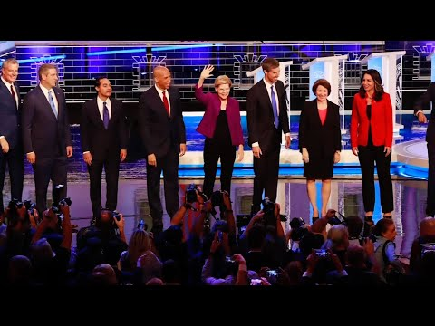 Ten Democratic presidential candidates tussled in the opening debate of the 2020 campaign at the Adrienne Arsht Center for the Performing Arts in Miami. (June 27)