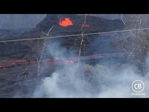 Live Feed of Rift Zone Eruption on Hawaii's Big Island