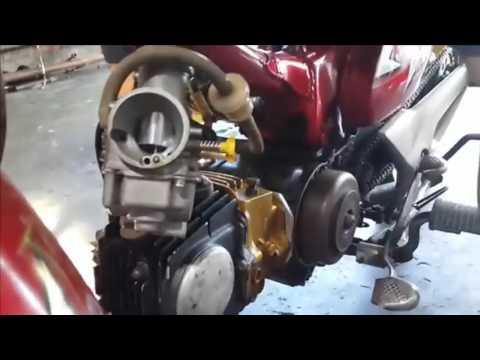 Video Modifikasi Motor Minti   Setel Karburator Honda C70   Setting Balap