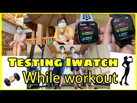 HOW TO TEST APPLE WATCH SERIES 6 while DOING WORKOUT | What's on Our APPLE WATCH