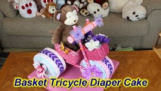 Basket Tricycle Diaper Cake