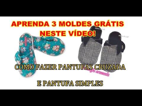 3 Moldes de Pantufas