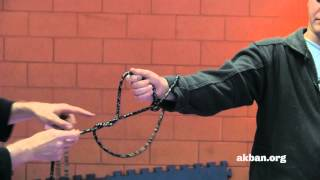 Tying up, Shibari Jutsu, with a Kusarigama chain - Ninjutsu weapons technique - AKBAN