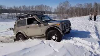 Lada bronto (Нива Бронто) и нива клуб, покатушки по снегу часть 2. Момент поломки редуктора
