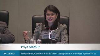 Performance, Compensation & Talent Management Committee on September 25, 2018