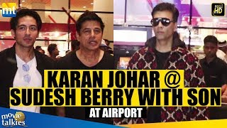 Karan Johar, Sudesh Berry With Son SPOTTED At Airport