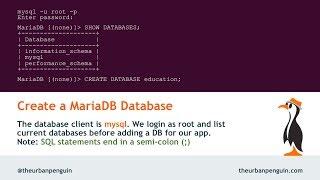 Create MariaDB Database and User