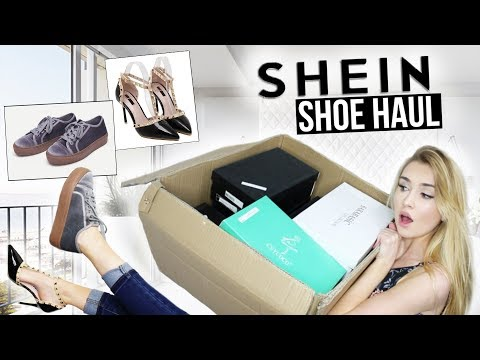 db26a1d8738 HUGE SHEIN TRY-ON SHOE HAUL