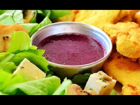 ➪ Como Hacer Ensalada de pollo apanado con vinagreta de uva ♡ - Marce come sin culpa