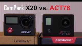 CAMPARK X20 vs. CAMPARK ACT76 Audio & Video Test Low Light