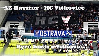 preview picture of video 'AZ Havířov - HC Vítkovice: Pyro hostí z Vítkovic... 31. 7. 2014'