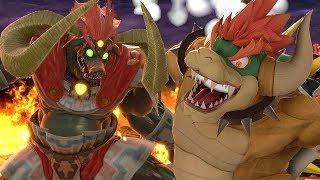 Giga Bowser vs All Bosses in Super Smash Bros Ultimate