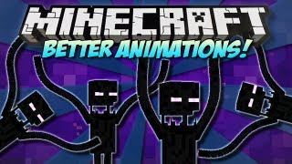 Minecraft | BETTER ANIMATIONS! (Crazy Enderman Party!) | Mod Showcase [1.4.7]