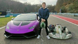 RACE! My Lamborghini Vs Racing Go Kart!