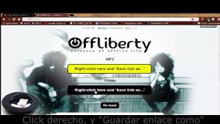 Cómo descargar videos desde Offliberty