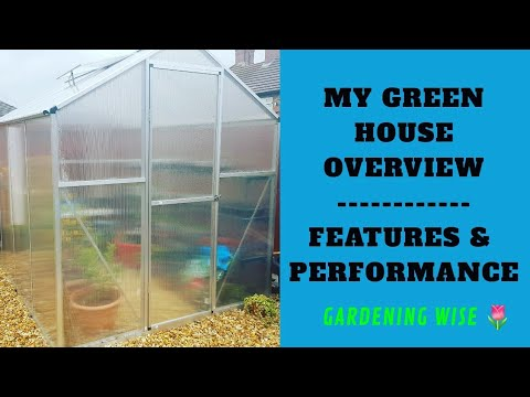 , title : 'My 6' by 8' polycarbonate greenhouse overview~ Features and performance review