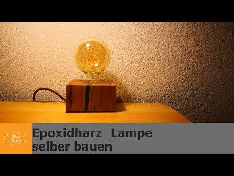 Epoxidharz Lampe bauen / Epoxidharz färben / einfach und günstig