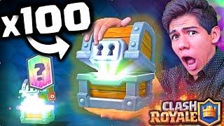 ¡ABRIENDO 100 COFRES GIGANTES de Clash Royale en 10 minutos! - [ANTRAX] ☣