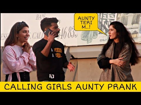 Calling Cute Girls AUNTY Prank | Prank in Pakistan | @Crazy Prank TV
