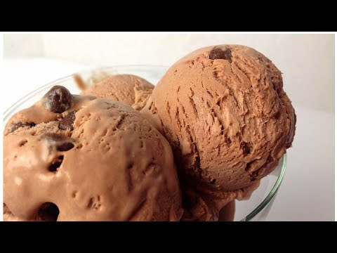 Video Homemade Chocolate Ice Cream Recipe - Egg less - No machine by (HUMA IN THE KITCHEN)
