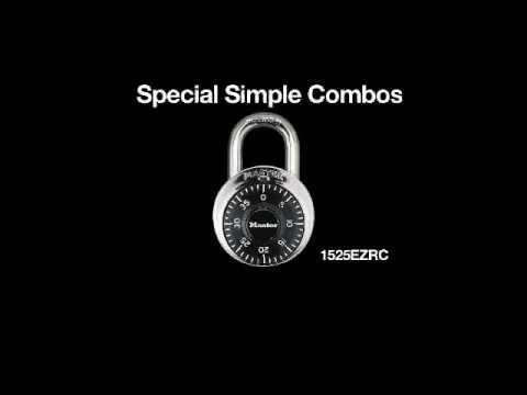 1525EZRC Simple Combo Schloss - Informationsvideo