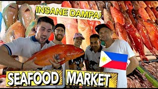 Best SEAFOOD MARKET PH!🇵🇭 FILIPINOS will COOK IT FOR US! Kain Tayo 🤤