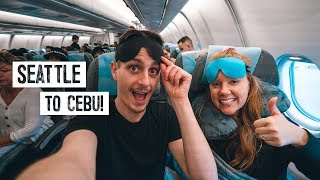 13 Hour Overnight Flight to THE PHILIPPINES! + Reviewing Weird Amazon Travel Products