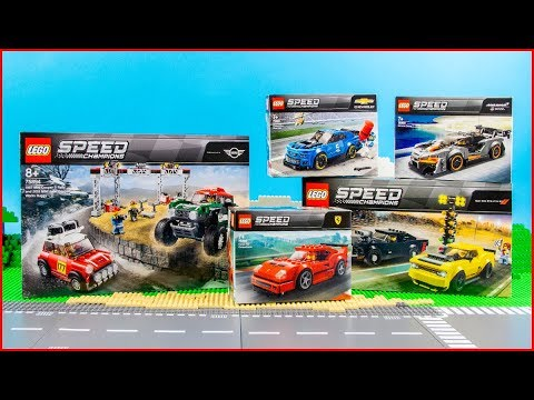 COMPILATION LEGO SPEED CHAMPIONS All 2019 sets  Construction Toy - UNBOXING