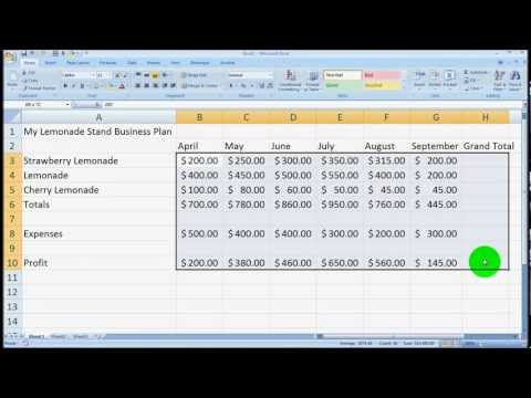 Microsoft Excel Overview for Beginners Tutorial – Excel 2003, 2007, 2010