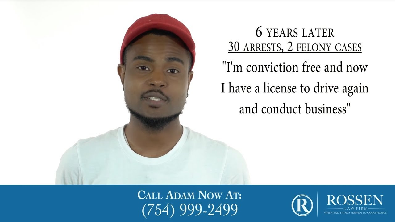 I was able to sleep easy in jail knowing I had Adam representing me.