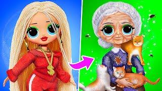 Богатая vs бедная бабушка / 10 идей для кукол ЛОЛ Сюрприз