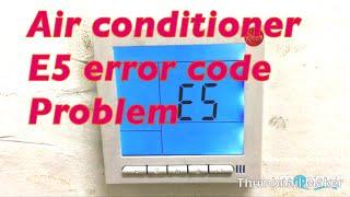 Hisense Dehumidifier E9 Error