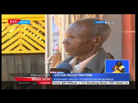 Very few people turn up to register in Nyeri County as exercise enters day two