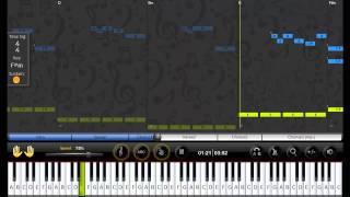 [ELP] Easy Learn Piano - Europe - The final countdown [beginner] [speed 75%]