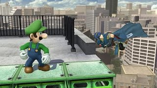 Smash 4 - Luigi wins against every level nine CPU by doing absolutely nothing