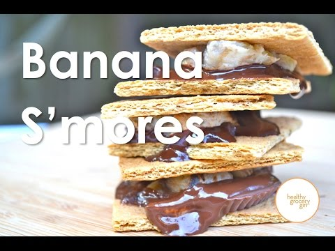 Video How To Make Banana S'mores | Easy Summer Dessert Recipes | Healthy Grocery Girl Show