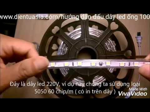 Hướng dẫn cắt & đấu dây nguồn led ống cuộn 100M - www.dientuasia.com