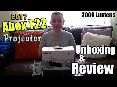 ABOX T22 2000 Lumes Mini Projector – Unboxing & Review !!