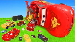 Cars Toys Play: Lightning McQueen Ride On Crash, Fire Truck & Toy Vehicles for Kids