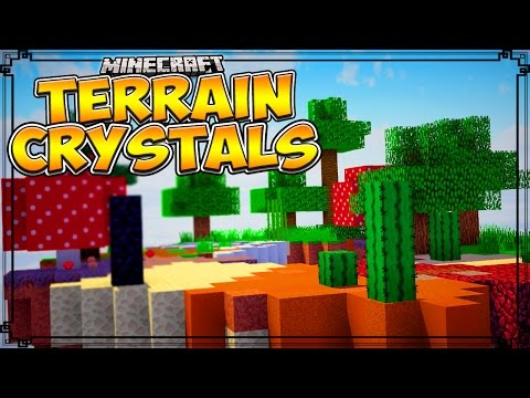 Minecraft Mods | BIOME SKY ISLANDS - Terrain Crystals Mod! (Minecraft Mod Showcase)