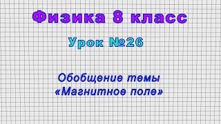 Физика 8 класс Урок 26 - Обобщение темы Магнитное поле.