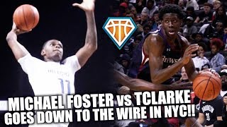TERRENCE CLARKE vs MICHAEL FOSTER!! Hillcrest & Brewster Academy GOES DOWN TO THE WIRE